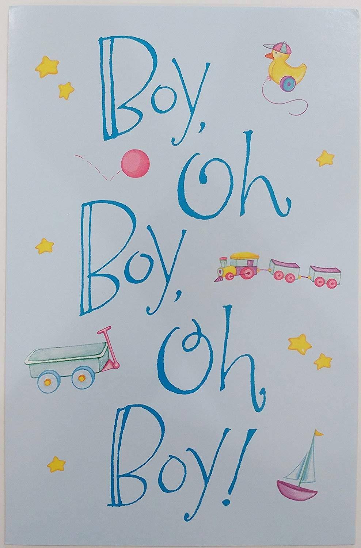 """""""Boy Oh Boy Oh Boy!"""" Congratulations on Your Precious Baby Greeting Card - Birth"""