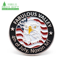 Best quality custom design zinc alloy casting gold plating UAE souvenir commemorative badges LOGO eagle lapel pin