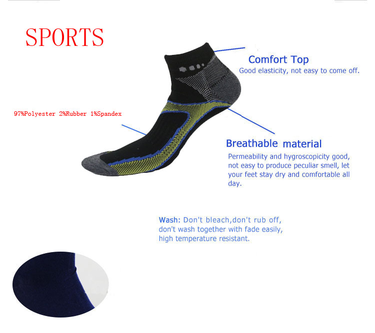 IS0307-p sport knitted half Cushion athletic sock low cut men oem odm custom socks with logo