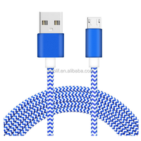 Factory Wholesale 1meter USB Data Sync Charging nylon braided cable for smart phone