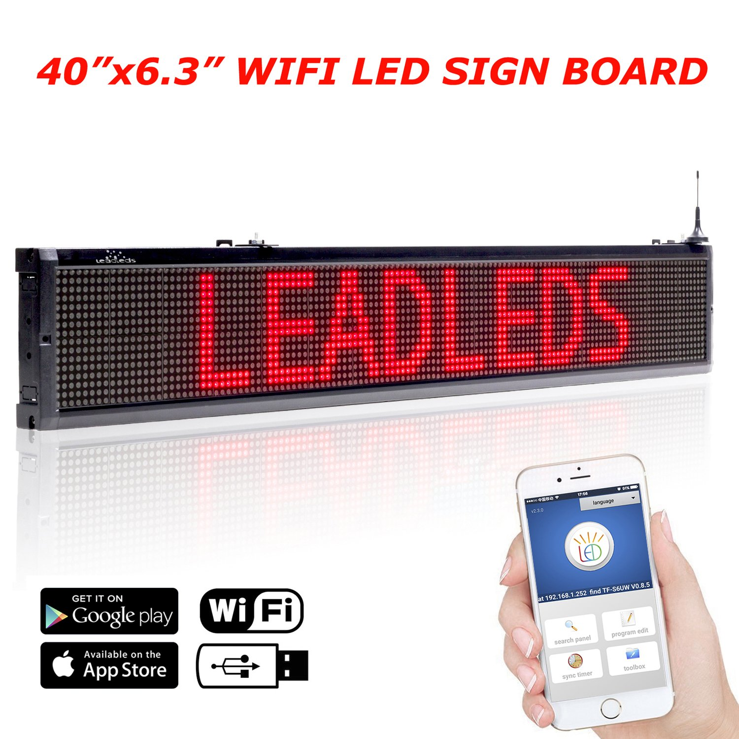 Buy Leadleds Electronic Led Sign Message Board For Store