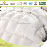 Classic style quilt white goose down feather quilt with baffle box