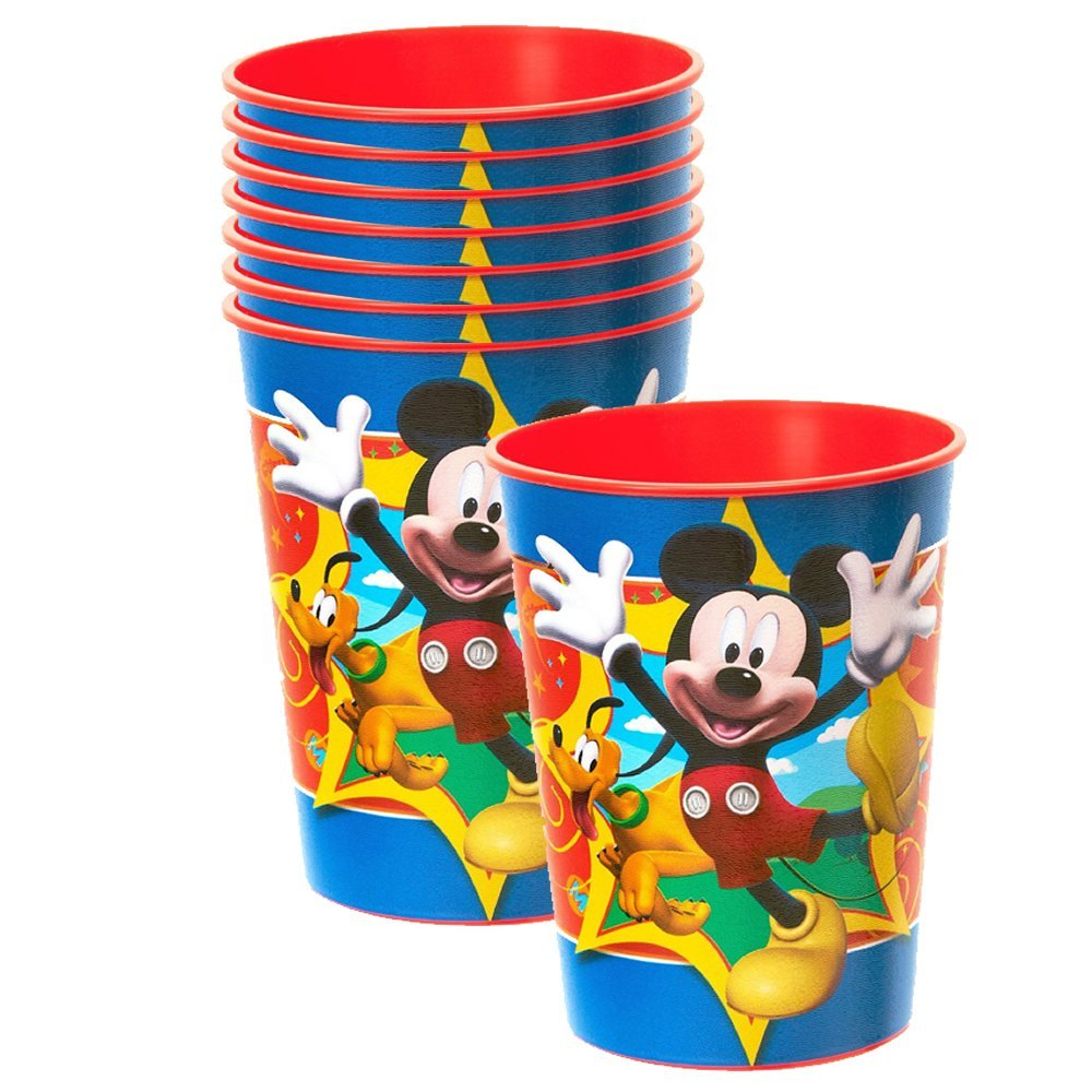 Disney Mickey Mouse Fun and Friends 16 oz. Keepsake Cups - 8 Pieces