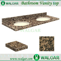 Hot Sale good quality 61-in W x 22-in D Baltic Brown Granite Undermount Double Sink Bathroom Vanity Top with best factory price