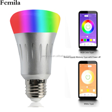 Intelligent color bulb WiFi remote control bulb LED Promise light Echo Home foreign blasting manufacturers