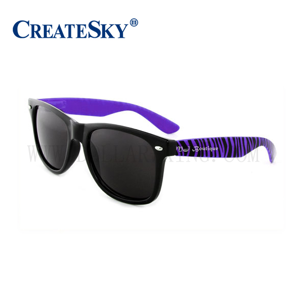 Purple Custom malibu sunglasses Promotional Sun Glasses sunglasses with logo