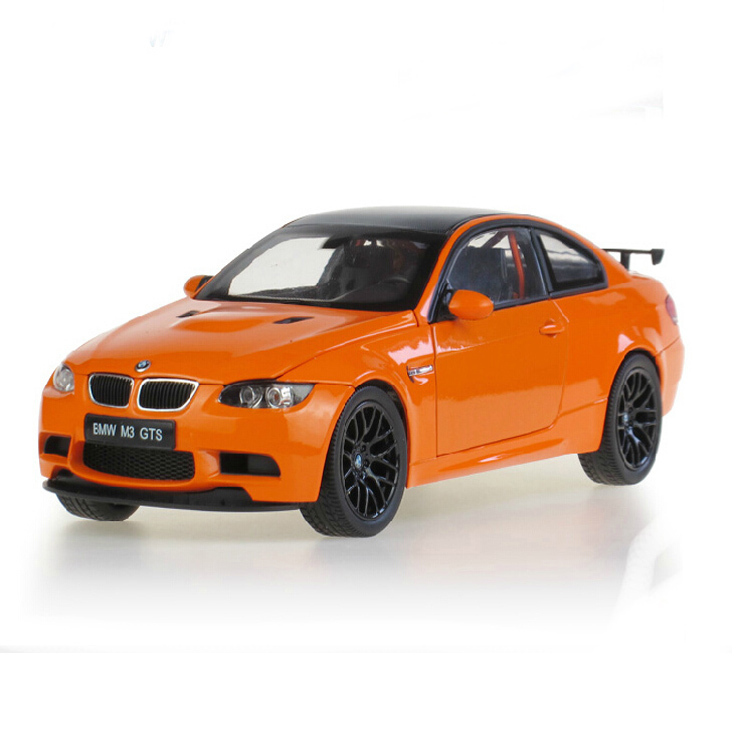 M3 GTS car model 1:18 Alloy Diecast Hot wheels Metal Sedan Model Festival gift Mini Vehicle collection toys