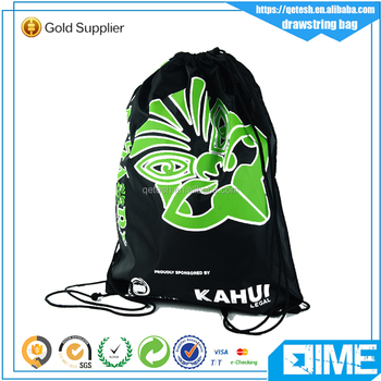 Custom Men's Drawstring Backpacks With Wonderful Logo Design