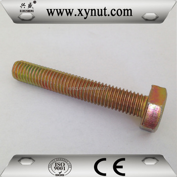 China Fastener  4.8 grade carbon steel  with full thread hex bolt