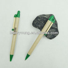 Cheap promotion eco friendly paper wooden ballpen with customized logo wholesale