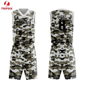 Custom Best Latest Design Camouflage Basketball Jersey Uniform