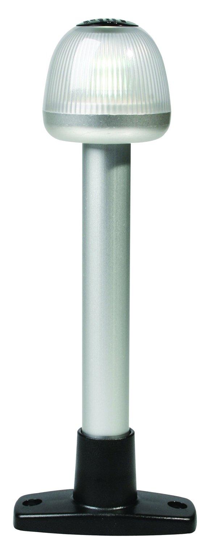 "HELLA 959910011 '9910' Series NaviLED 360 Multivolt White 9-33V DC 2 NM All-Round LED Light with Black 8"" Fixed Mount Base"