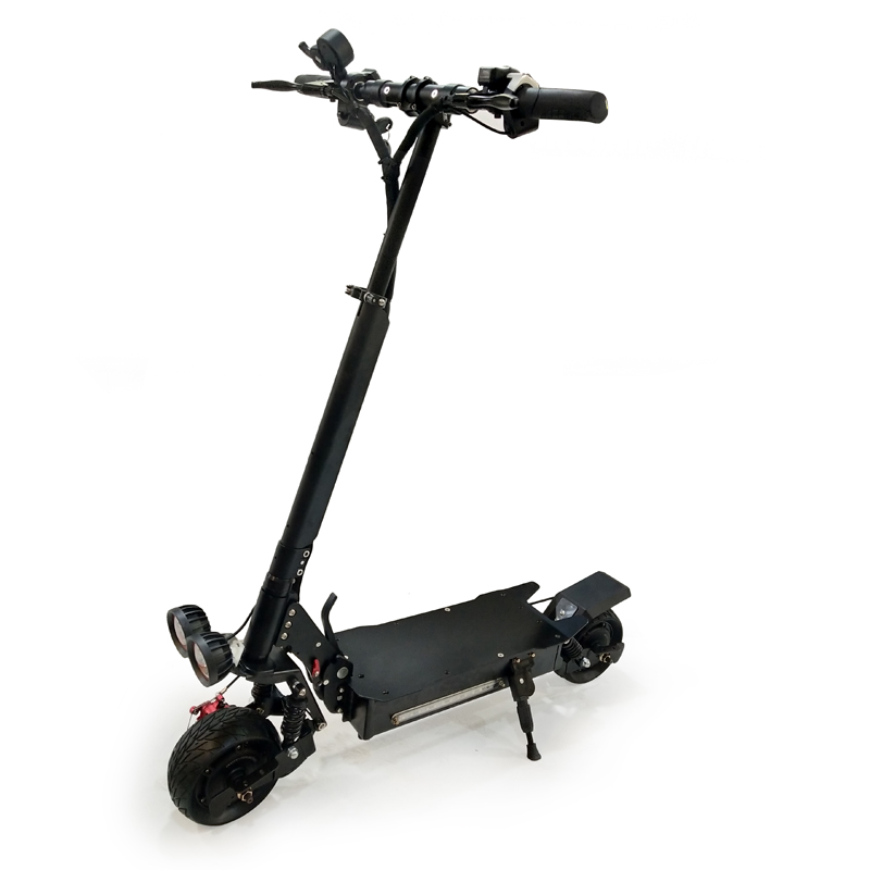 Hot 48V powerful dual brushless hub motor foldable 8 inch fat tire electric scooter 2000W
