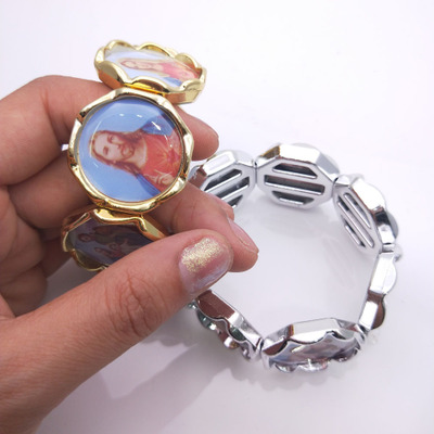 china yiwu religious fashion elastic bracelet, cheap Catholic best sell bracelet