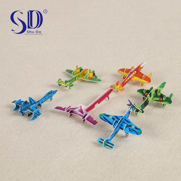 3d airplane car mini custom puzzle intelligence toy diy 3d puzzle plane model