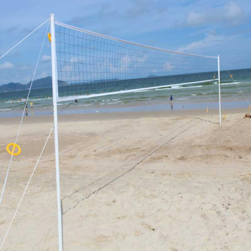 Familie outdoor sport game apparatuur strand volleybal set