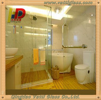 China Qingdao Rectangular Frameless Tempered Glass Sliding Shower Door/Shower Screen