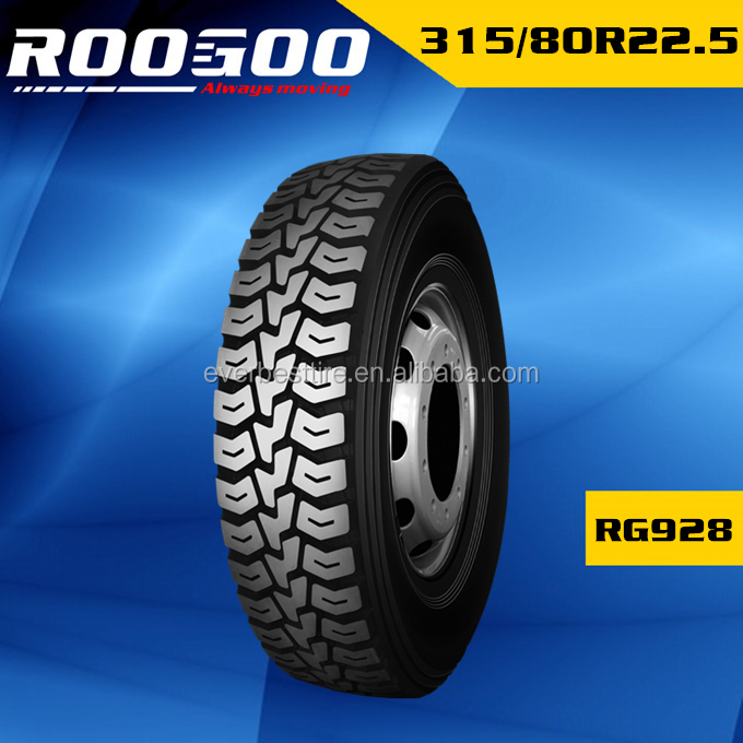 ROOGOO TRUCK TIRES truck tyre 315/80r22.5 lower price 315/80r22.5