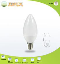 6.2W 600lm IC driver C37 AC230V church led flameless candle light