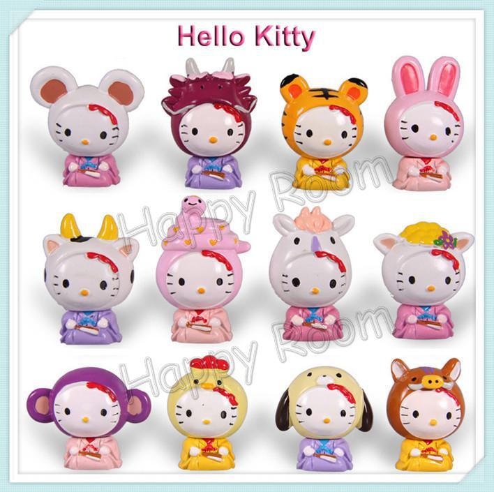Free shipping ! 12pcs/set Cute Hello Kitty Cartoon Chinese ...