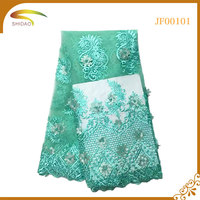 2017 100% Polyester Materials Cheap African Asian Lace for Evening Dresses Market in Dubai