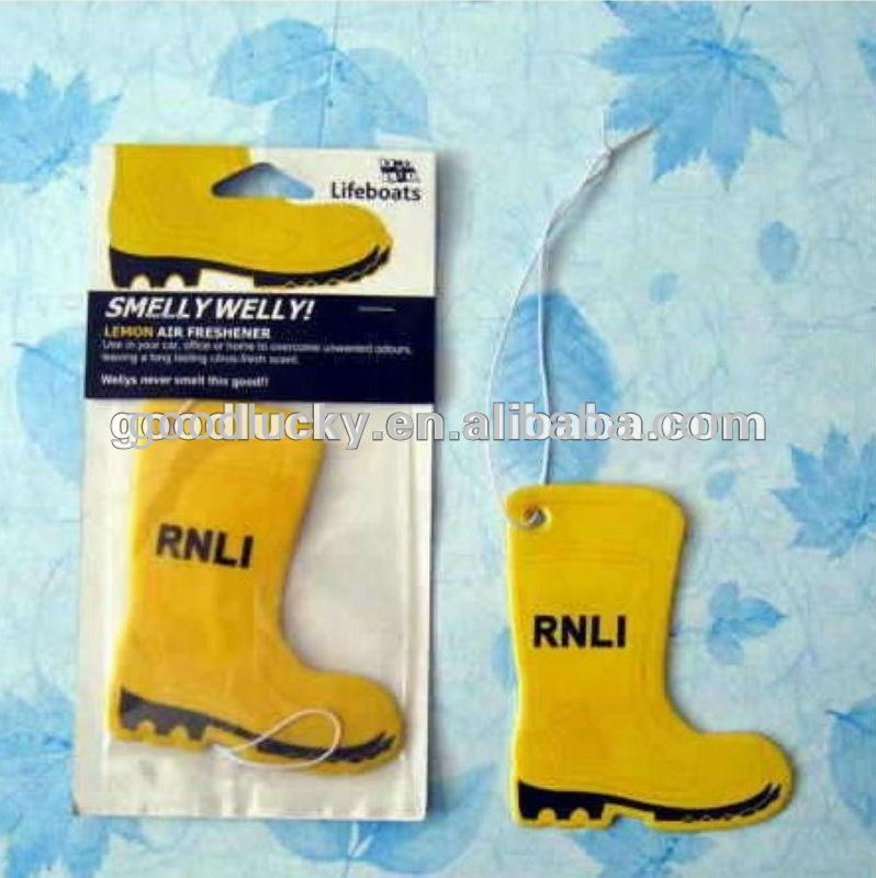 Good quality promotional gift shoe shape paper air freshener