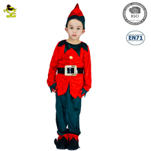 A carnival party New style red Christmas ElF costume for kids