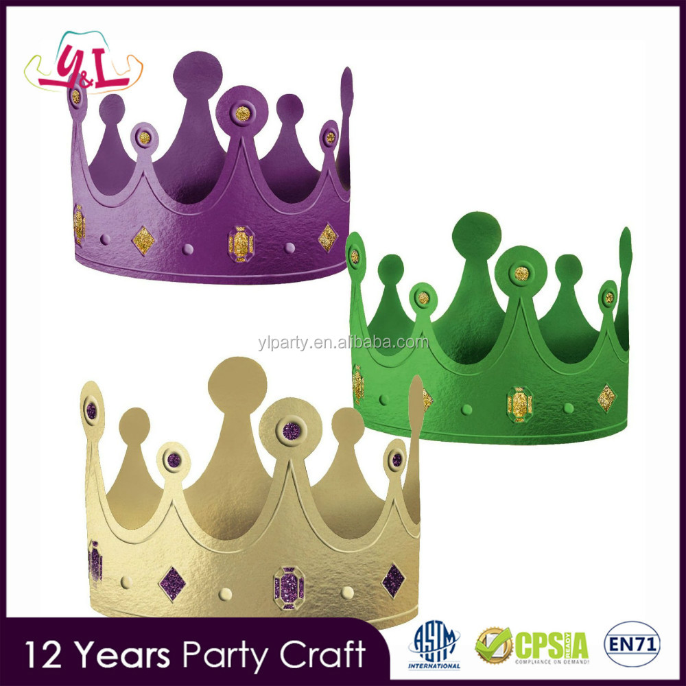 New Fashion Paper Paper Crowns Wholesale For Mardi Gras