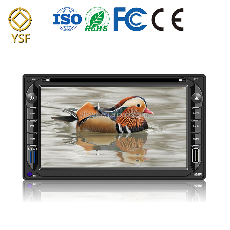 High quality 2din Universal Car DVD Player with Remote Control Bluetooth made in China