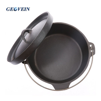 Camping nonstick wholesale cast iron dutch oven 3.5 qt