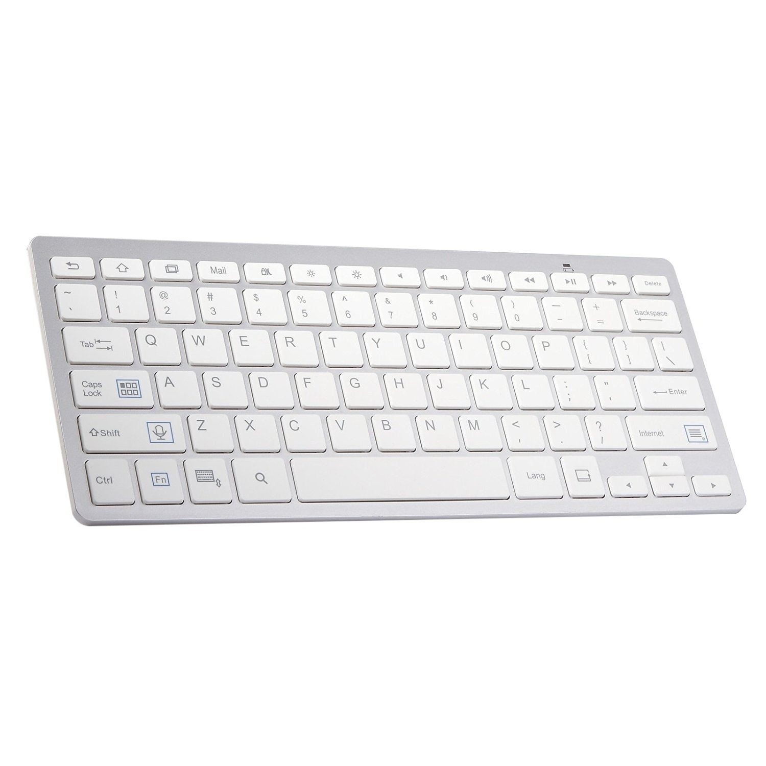 2422c19949a Get Quotations · Sweetkisska Wireless Keyboard Portable Bluetooth 3.0  Layout Keyboard for PC Laptop Tablet Smartphone for iPad Bluetooth