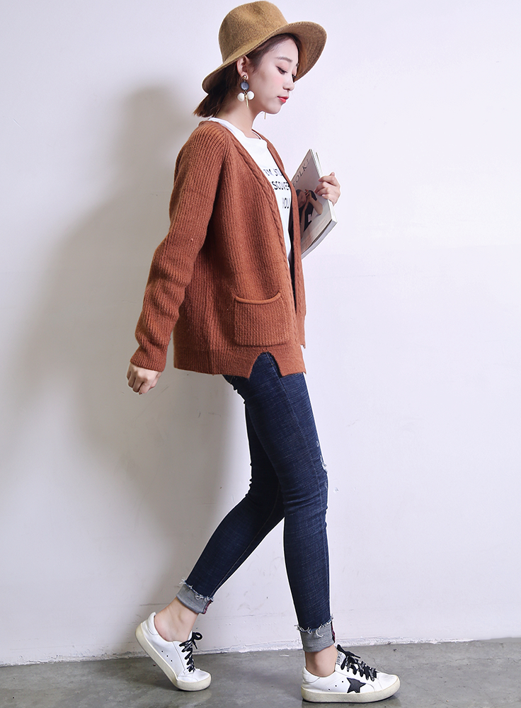 women raglan sleeve open front antipilling winter cable knit cardigan