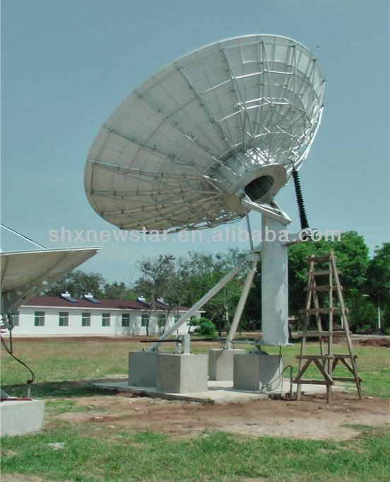 Good quality cheap China hot sale 6M static earth station TVRO parabolic mobile satellite antenna