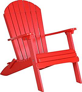 Get Quotations · Outdoor Poly Folding Adirondack Chair Red Color