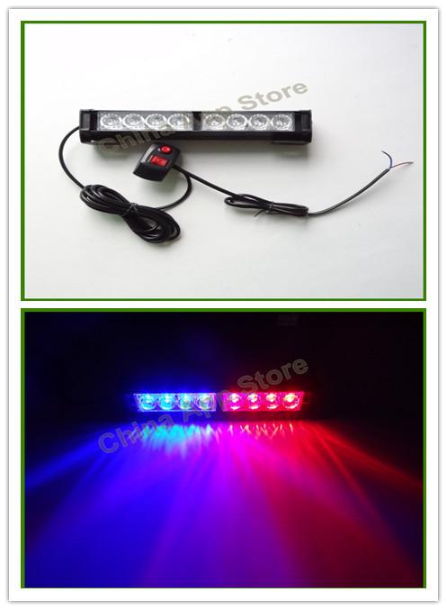 Новый 8 из светодиодов аварийного автомобиля сигнальная лампа строб вспышка света красный синий янтарный белый зеленый смешанные цвета 8 из светодиодов проблесковый маячок 8LED