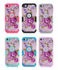 For iPod Touch 5th/6th Gen Twilight Petunias Solid White TUFF Hybrid Case Cover