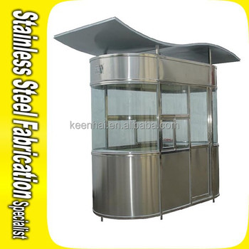 Outdoor Steady Stainless Steel Security Booth Prefabricated ...