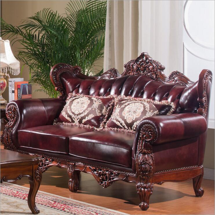Good Quality Leather Sofa: High Quality European Antique Living Room Sofa Furniture