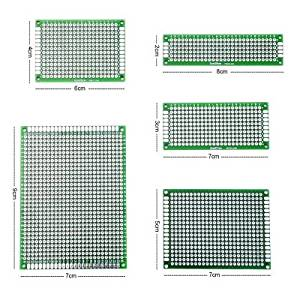 Double Sided Prototype PCB Universal Board 16 Pieces Double Sided Prototype PCB Universal Board for DIY Multiple Sizes by ppstore99