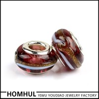 China Factory Fit European Style Bracelet as Gift Item Cheap Lampwork Beads Murano Glass Bead Wholesale