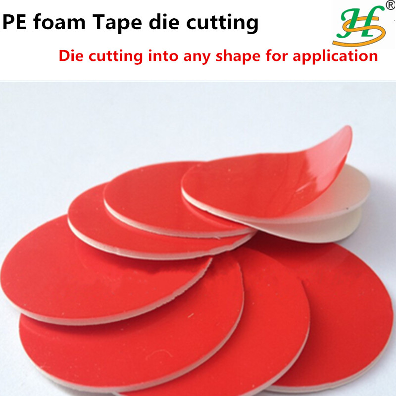 Die cutting double-sided adhesive PE foam mounting sheets