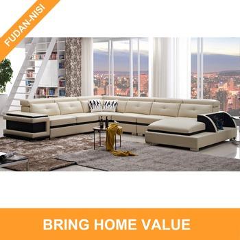 Genuine Leather Corner Sofa Modern