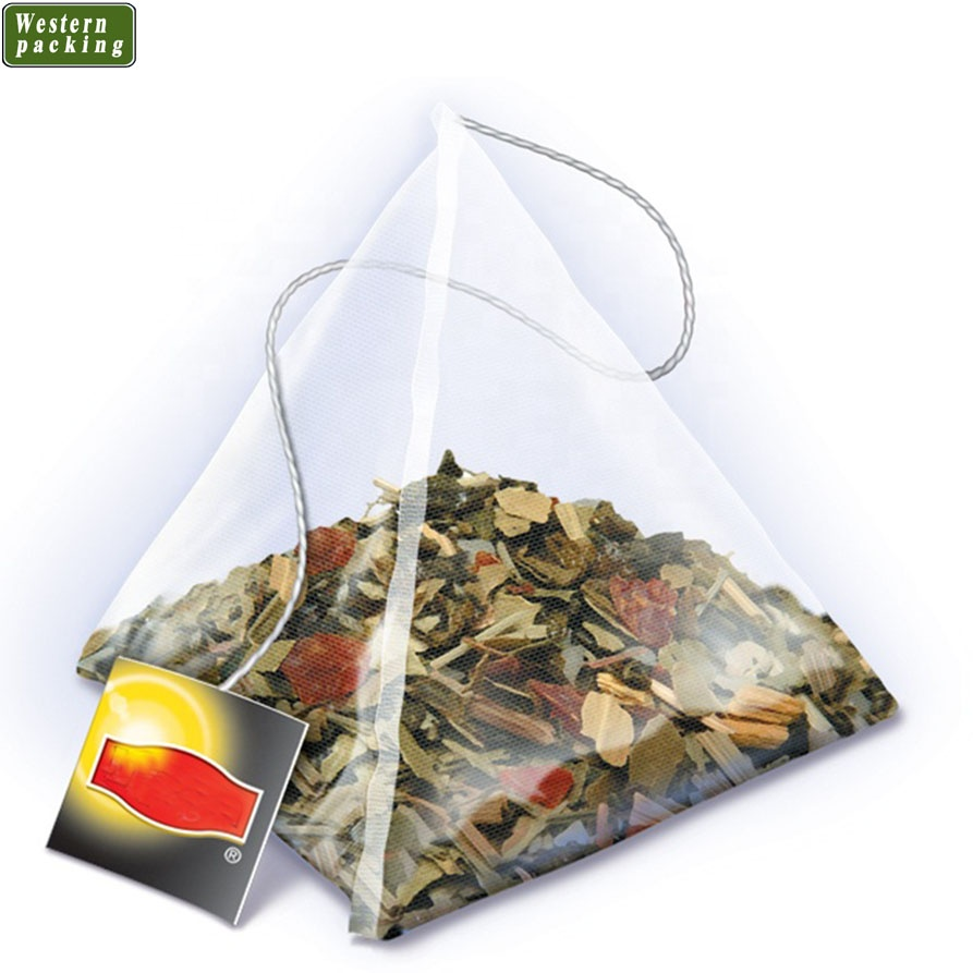 PLA Biodegradabile piramide del triangolo forma di Nylon mesh tea bag