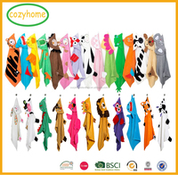 Hot sale Cartoon baby hooded towel Tiger Cow toalha de banho infantile Dinosaur Elephant banheira do bebe kids hooded towels