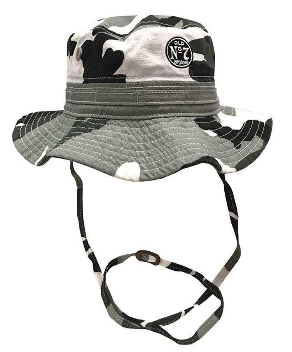 Jack Daniels Men s Wide Brim Boonie Fishing Bucket Hat Gray Camouflage  JD77-124 bfbd5c982