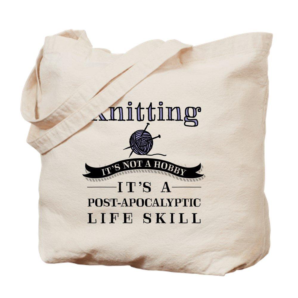 CafePress - Knitting: A Post-Apocalyptic Life Skill - Natural Canvas Tote Bag, Cloth Shopping Bag