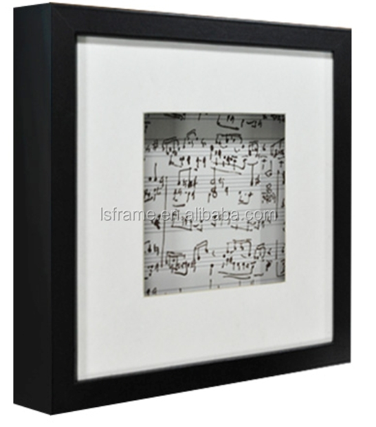Simple flat shpe matted 3D shadow box photo frame