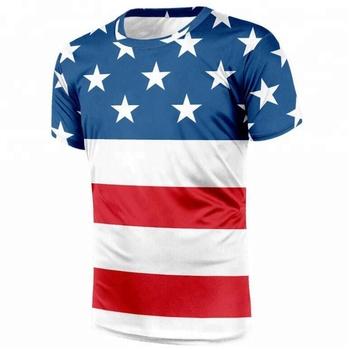 Camiseta De Manga Corta Con Estampado De Bandera De Estados Unidos Para Hombre Buy Camiseta De La Bandera De Estados Unidos,Camisetas Impresas