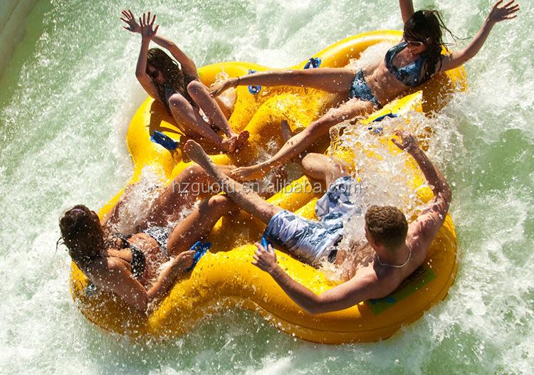 कस्टम Inflatable 4 व्यक्ति Proslide वाटरपार्क स्की स्लाइड ट्यूब के लिए पागल खेल