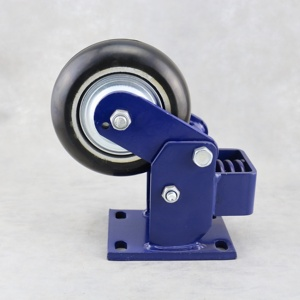 SS 6 Inch Spring loaded caster wheel shock absorbing Heavy duty caster wheel Spring loaded Swivel caster wheel
